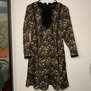 French Connection long sleeve floral dress
